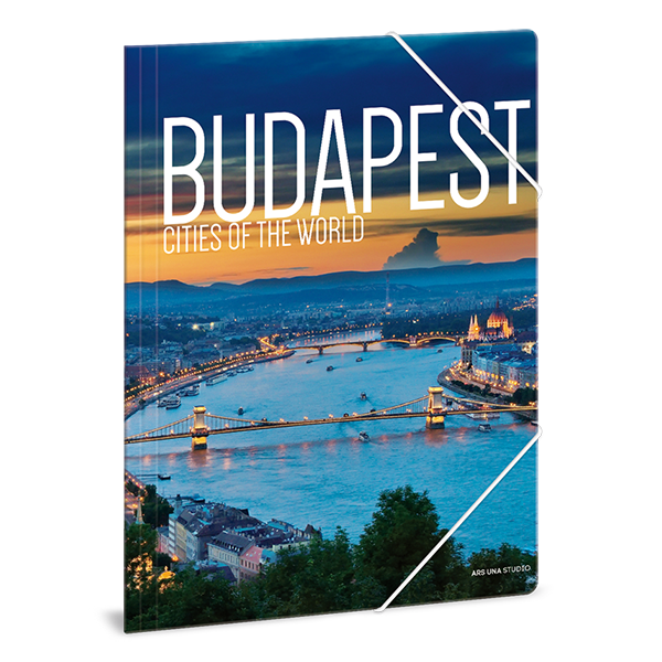 Gumis mappa ARS UNA A/4 Budapest 3 Cities Of The World