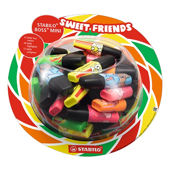 Szövegkiemelő STABILO Boss Mini Sweet Friends 50 db-os display