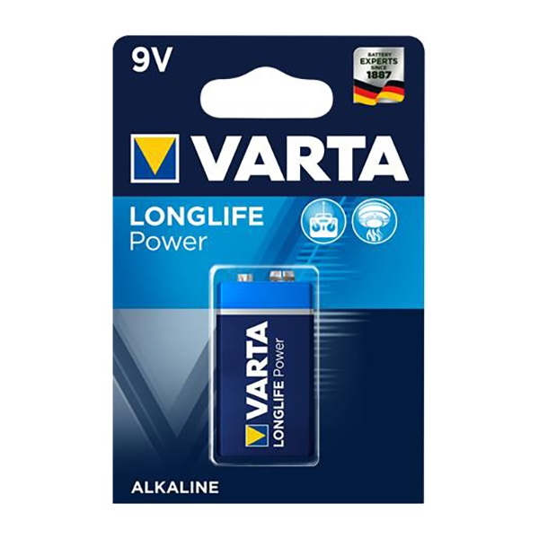 Elem VARTA `Longlife Power` 9 V-os