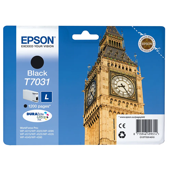 Festékpatron EPSON T7031 Workforce Pro 4000 fekete 24ml