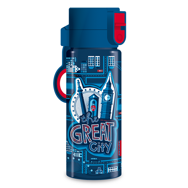Kulacs ARS UNA The Greta City műanyag BPA-mentes 475 ml