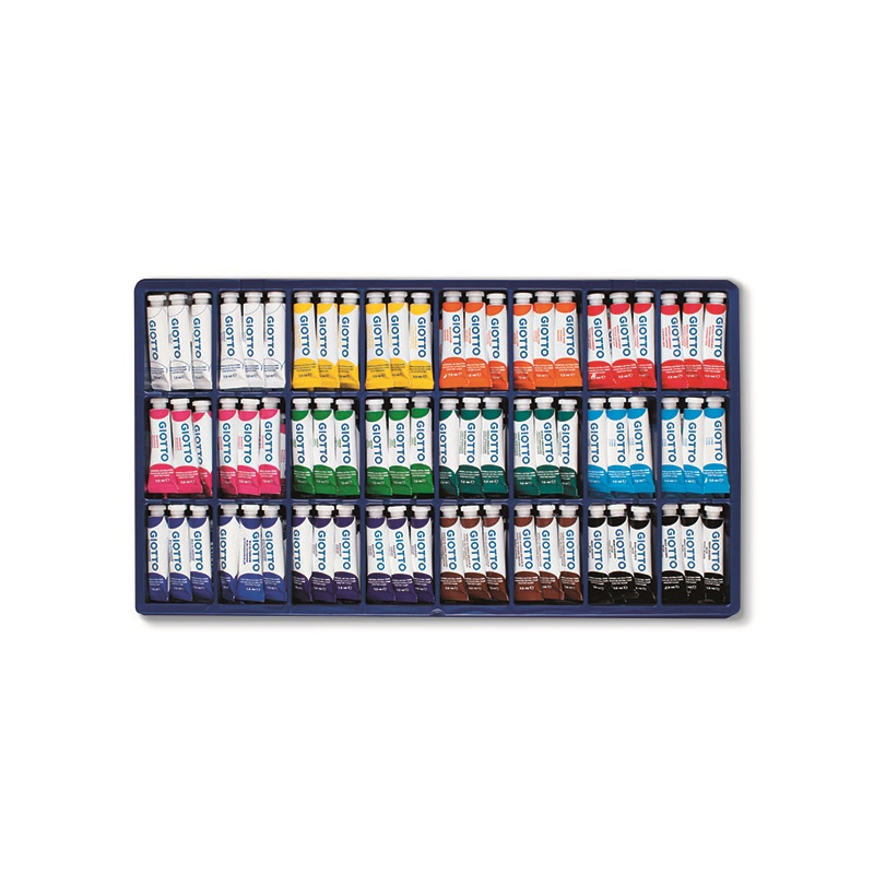Tempera display GIOTTO tubusos 7,5ml 144db-os készlet